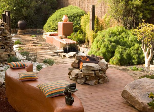 Create more romance in the garden with a DIY outdoor fireplace