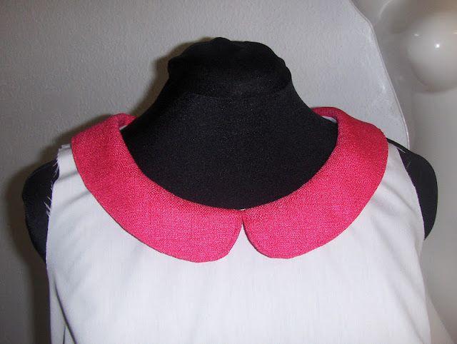 Sewingadicta: Tutorial to make a Peter Pan collar from scratch. Tutorial para hacer un cuello bebé desde cero