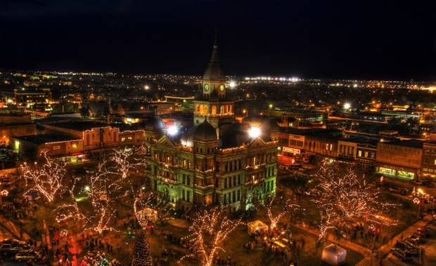 On The Square In Denton Texas Holiday Lighting And