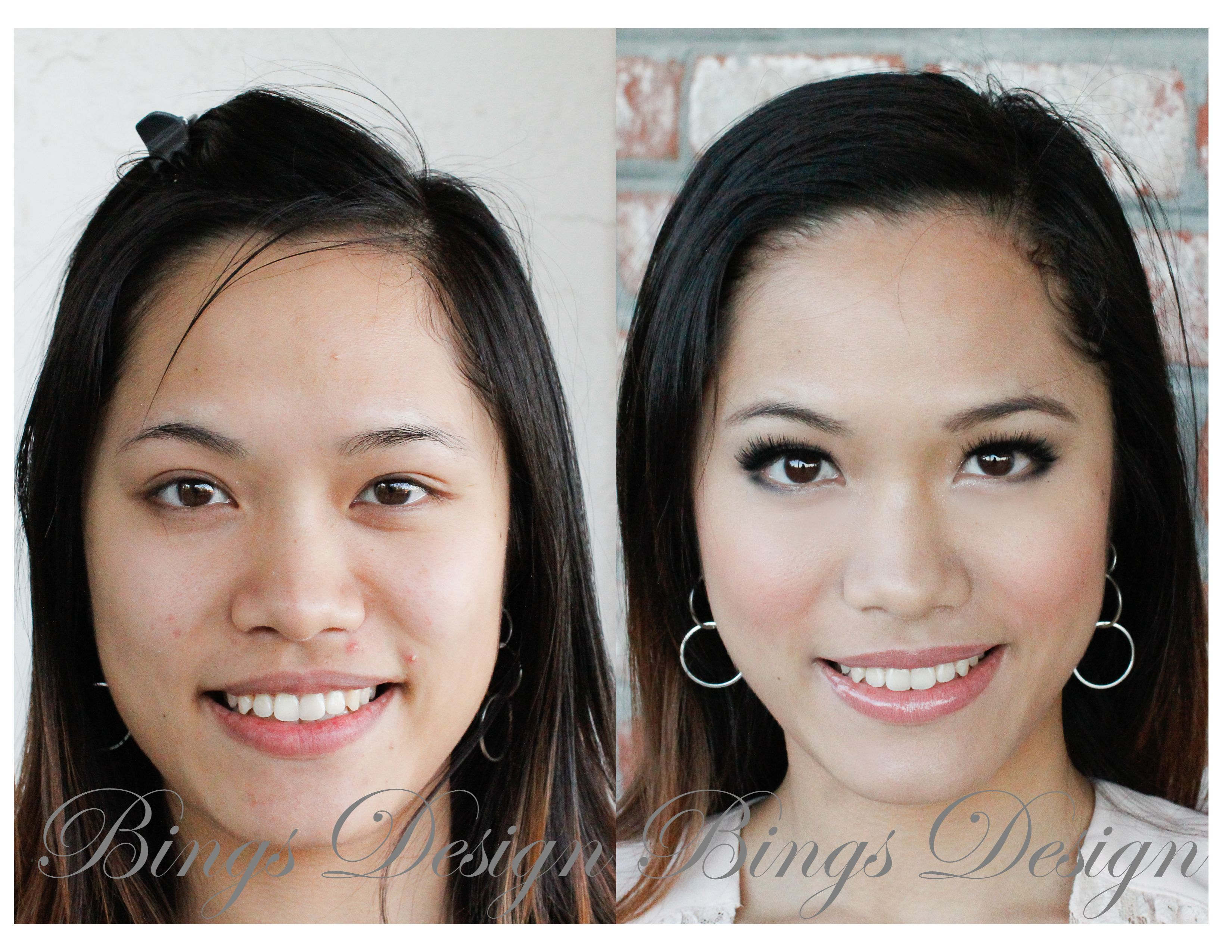 Without makeup she is already pretty. To transform her