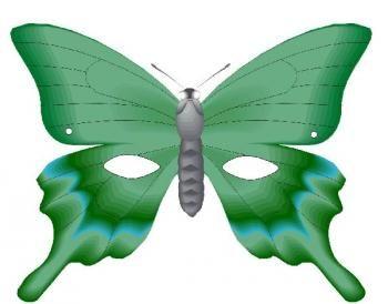 Masque papillon paper masquerade masquerade - Masque papillon carnaval ...
