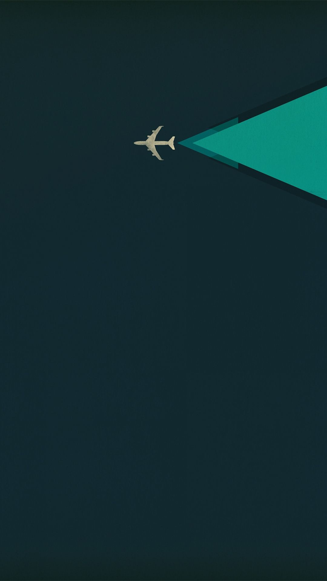 Plane. Tap to see more nice Minimalist iPhone Wallpapers