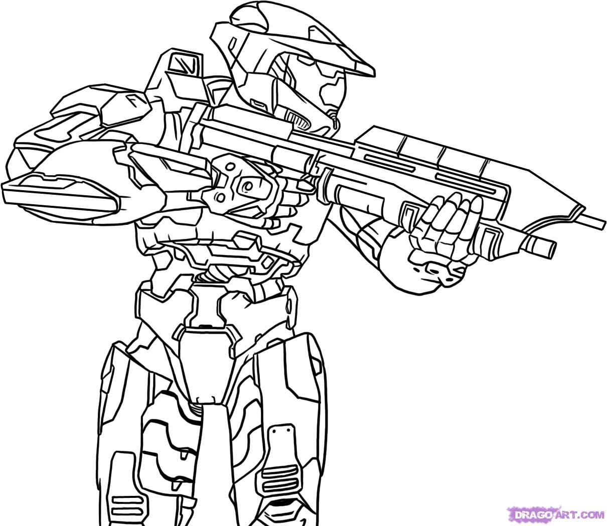 Halo 5 Dibujos Para Pintar