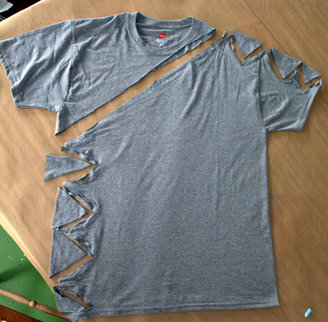 WobiSobi: Side and Shoulder Tied Shirt #diyclothes