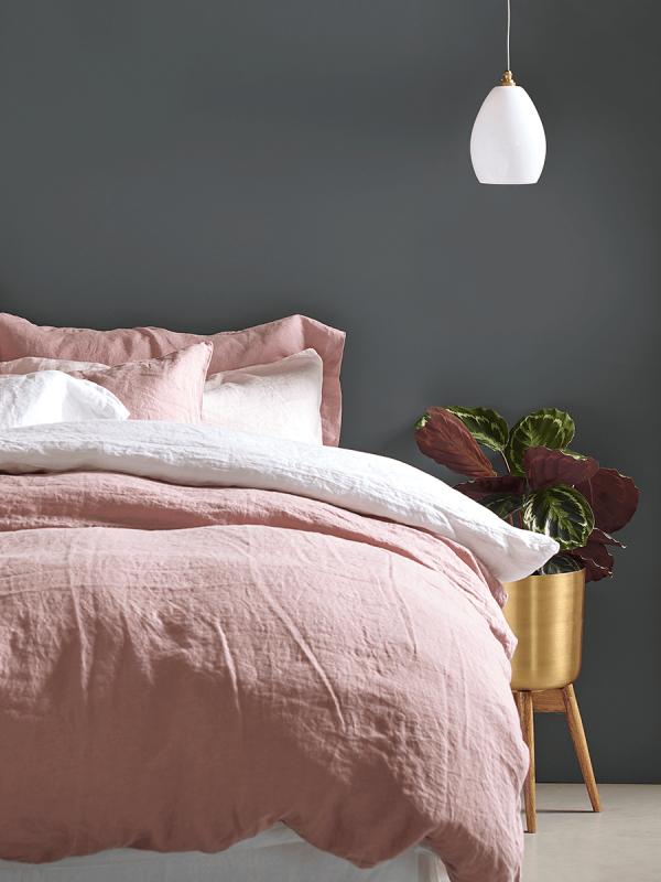 Washed Linen Bedding - Vintage Rose   B E D R O O M S   Linen ...