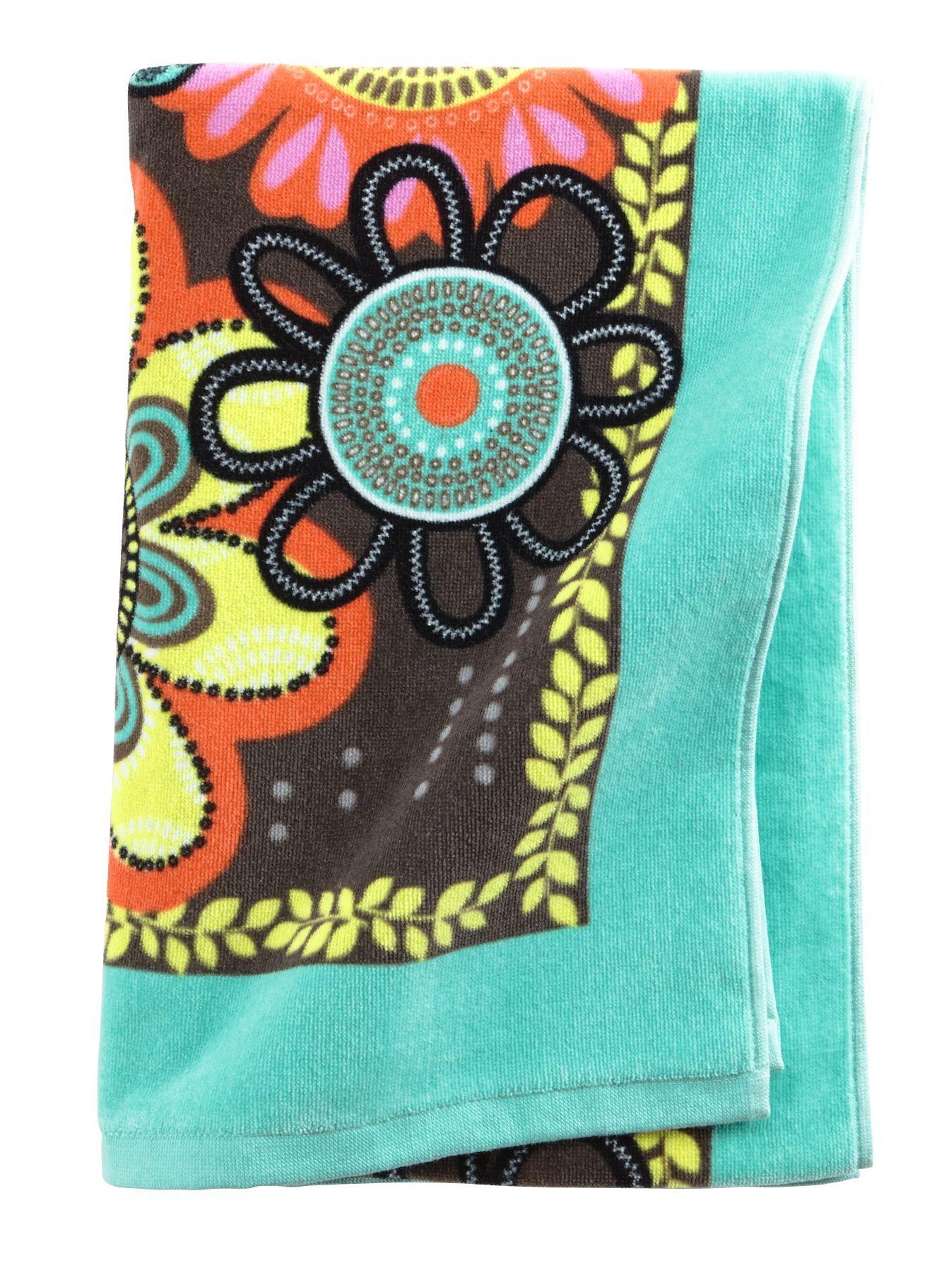 vera bradley beach towel in flower shower 50 off sale - Beach Towels On Sale