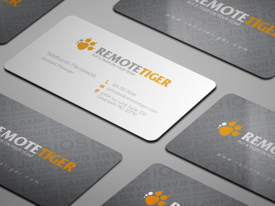 Business Card Design For A Young Hip High Tech Company By Zetka Business Card Design Business Cards Freelance Business Card