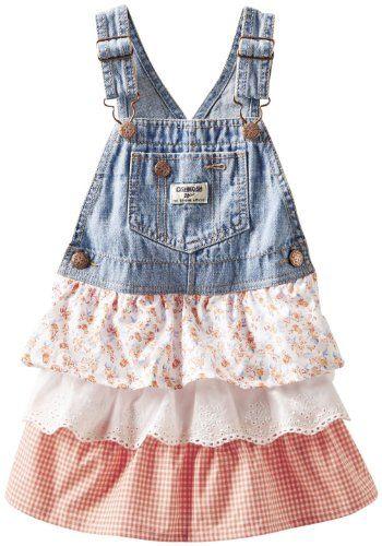 bc6dfff057 OshKosh B gosh Baby Girls  Denim Woven Jumper (Baby) - Jetty Wash