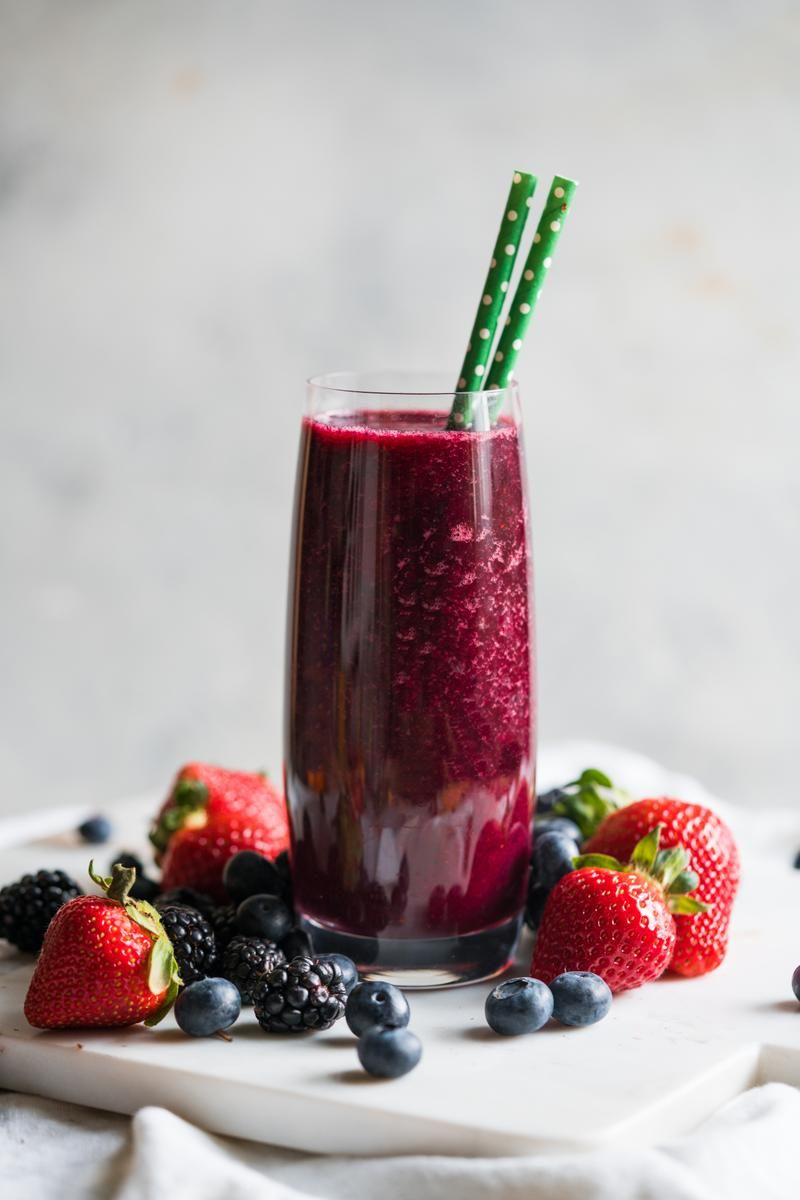 Blueberry, Blackberry, Strawberry and Lime Juice Recipe in
