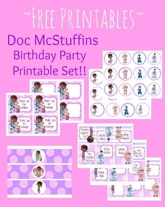 Free Doc Mcstuffin Birthday Party Printables Delicate