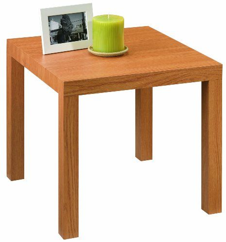 Dorel Home Products Parsons End Table, Natural - add tension rod