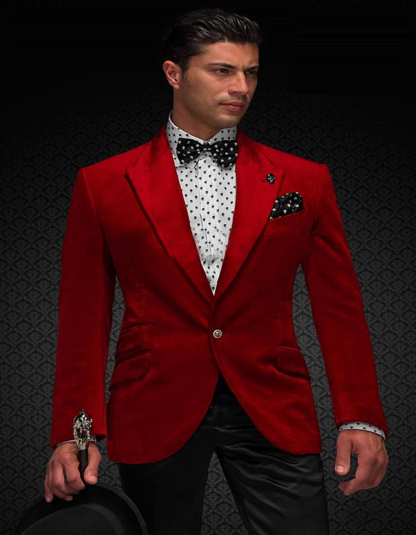 Free shipping buy best high quality one button red groom tuxedos