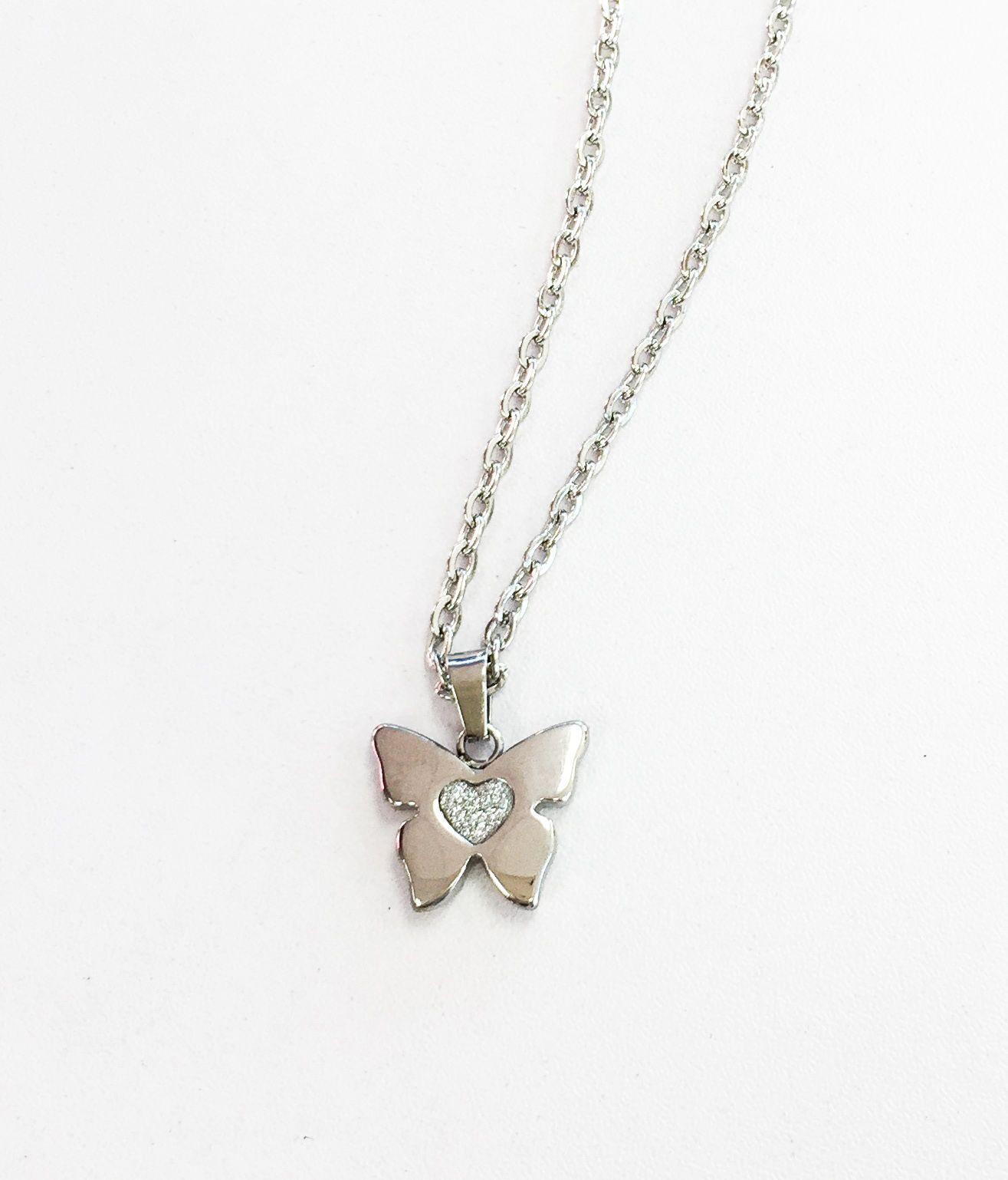 1ac3aa492dcd Dije mariposa y cadena acero inoxidable - Creaciones Cadena Acero  Inoxidable