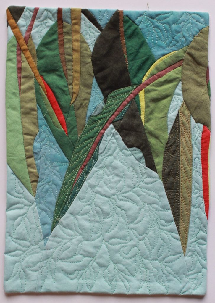 In My Portfolio: Ten untitled eucalyptus art quilts | Ruth de Vos: Textile Art
