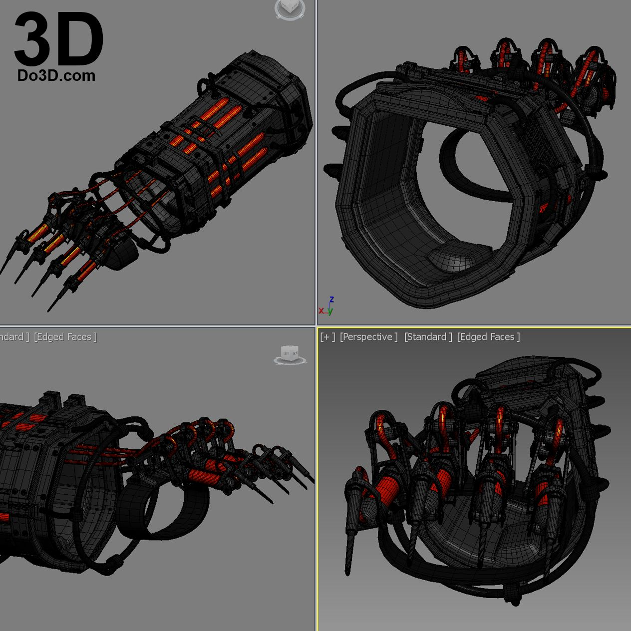 3D Printable Model: Scarecrow Dr  Jonathan Crane Gauntlet
