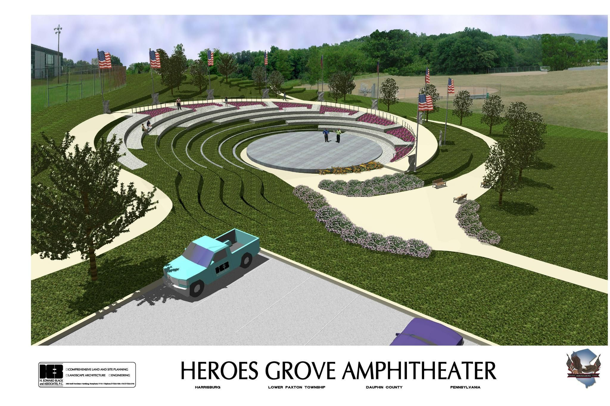Outdoor amphitheater google search amphitheater for Outdoor landscape plans