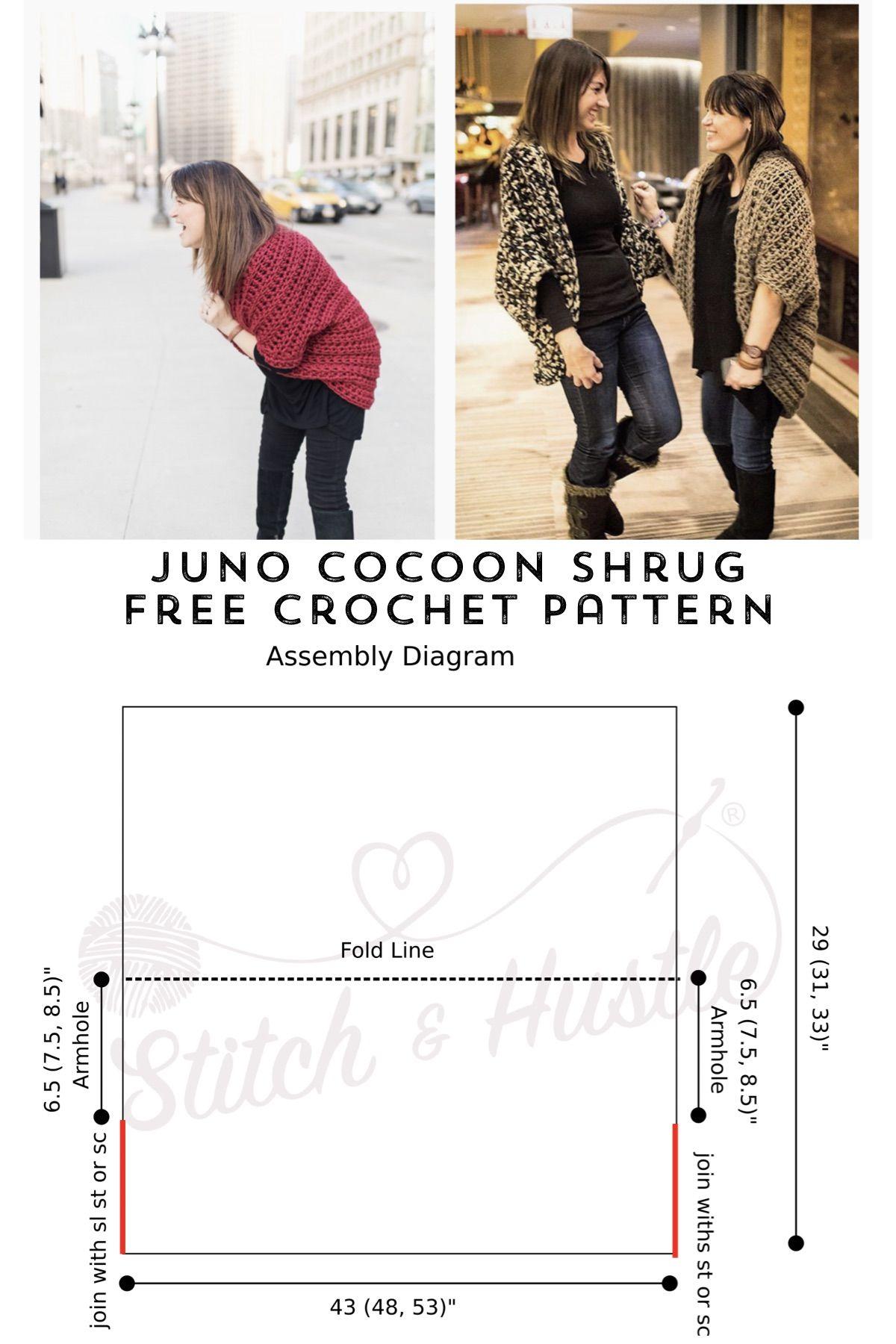 Juno Chunky Shrug - Free Crochet Pattern | Arte Arte TJ2 Accesorios ...