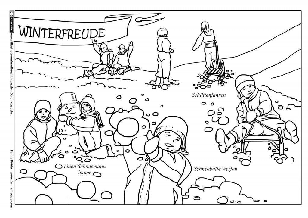 durch das jahr  winter winterfreude  fröde  illustrator