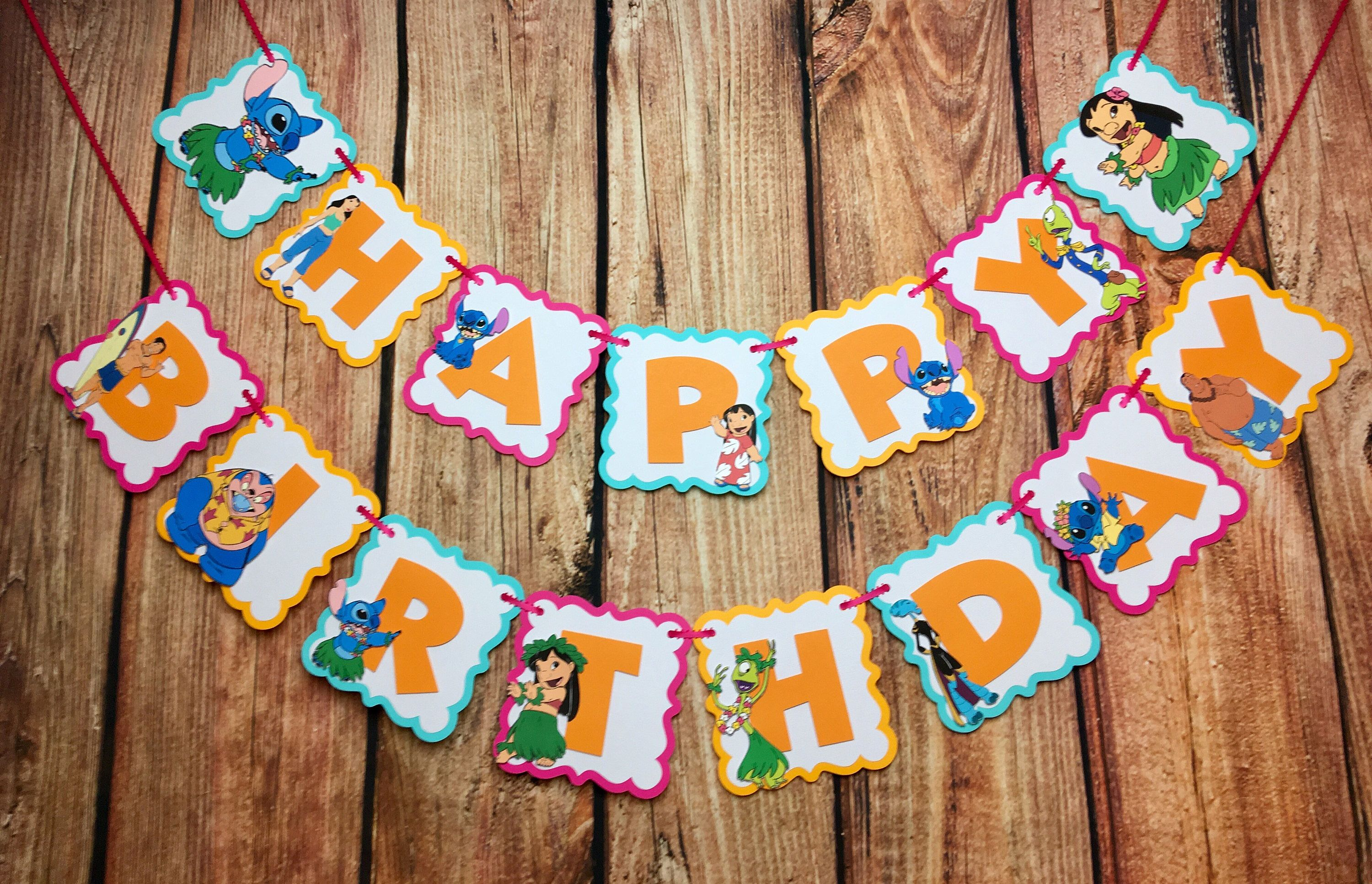 A personal favorite from my Etsy shop https://www.etsy.com/listing/530156967/lilo-and-stitch-happy-birthday-banner
