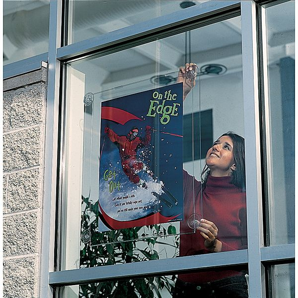 Demco Com Glass Mount Sign Holder Window Displays