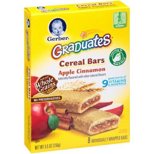 Gerber Graduates Cereal Bars Apple Cinnamon, 5.5 Ounce