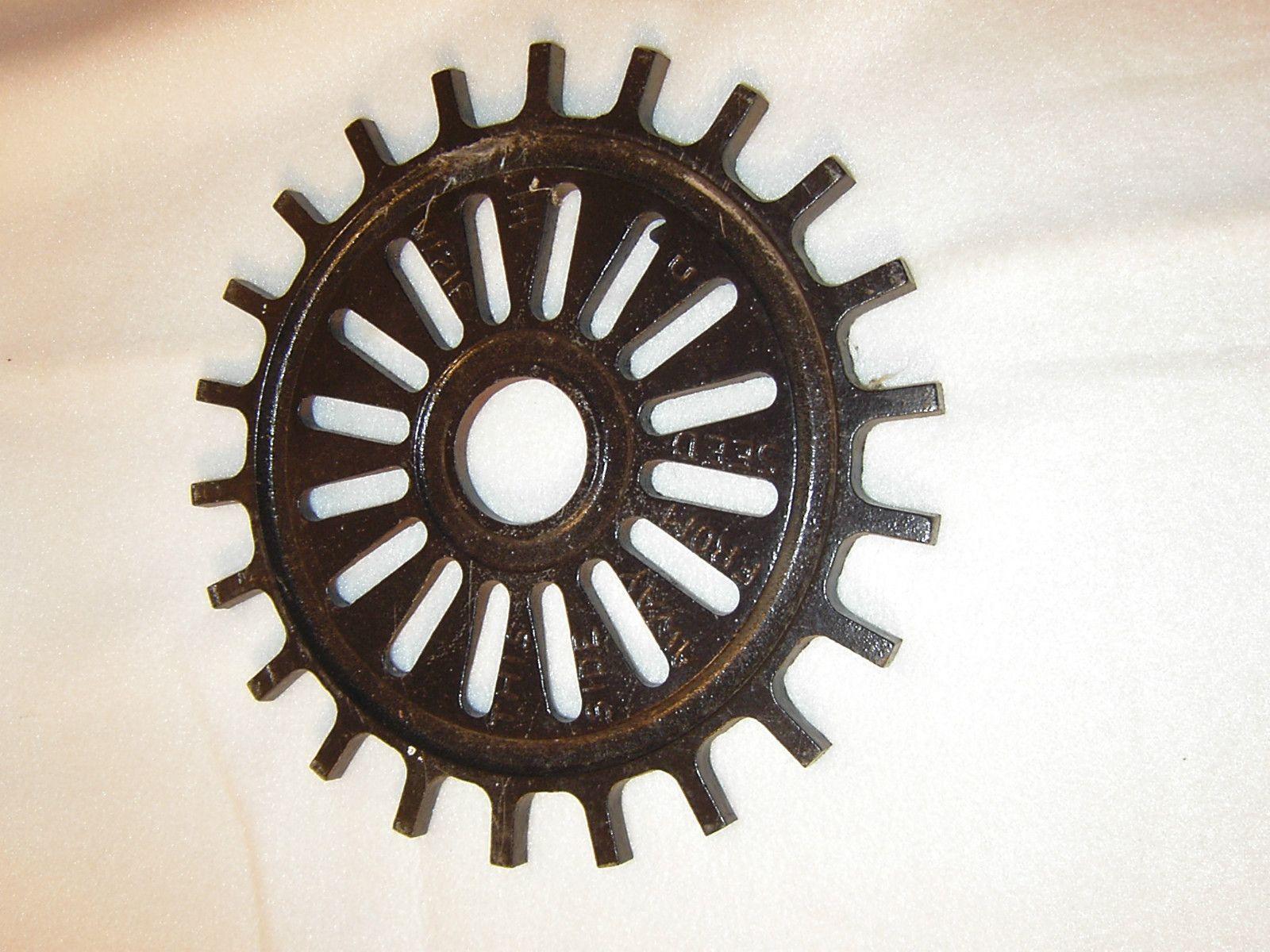 Superior Vtg. Garden Art~International Harvester~Cast Iron Wheel/Disc