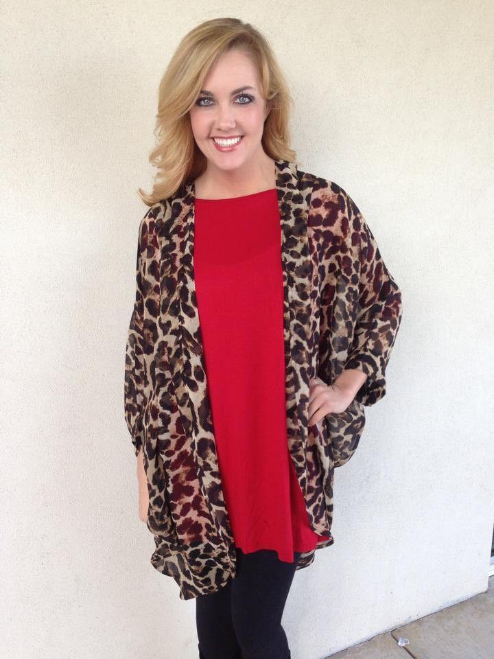 Long chiffon leopard cardigan #Long leopard chiffon cardigan ...