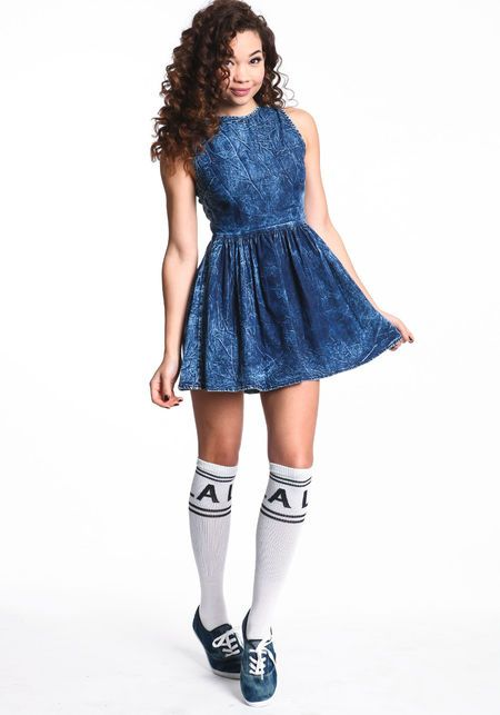 190e40485e Acid Wash Skater Dress  denim  acidwash  skater  dress  spring  newarrivals   loveculture