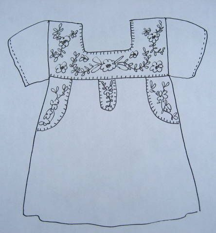 Mexican Blouse Embroidery Placement Ideas | Embroidery | Pinterest ...