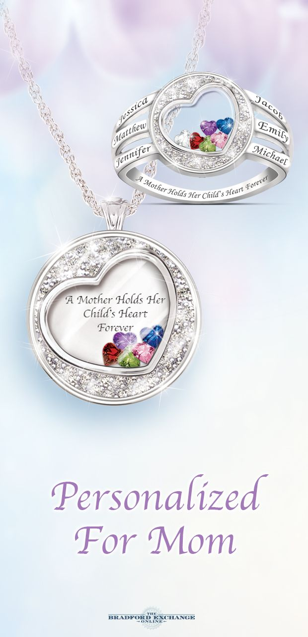A perfect pair, this dazzling duo of personalized jewelry gifts ...