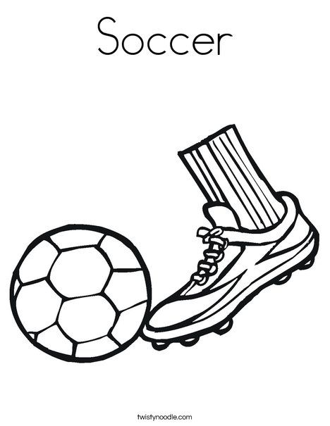Soccer Coloring Page Twisty Noodle Coloring Pages Sports