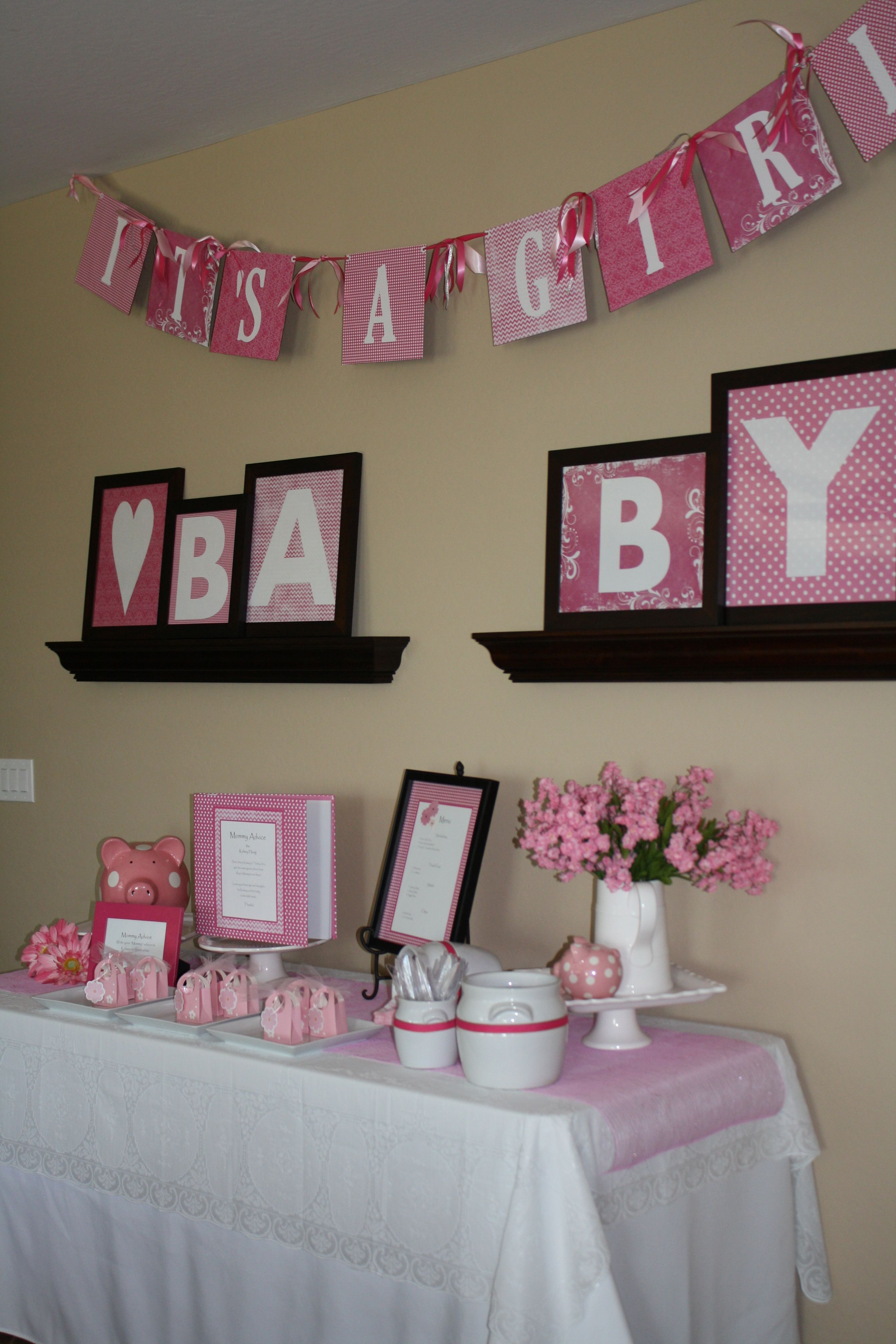 Baby Girl Shower Love The Pink Pig