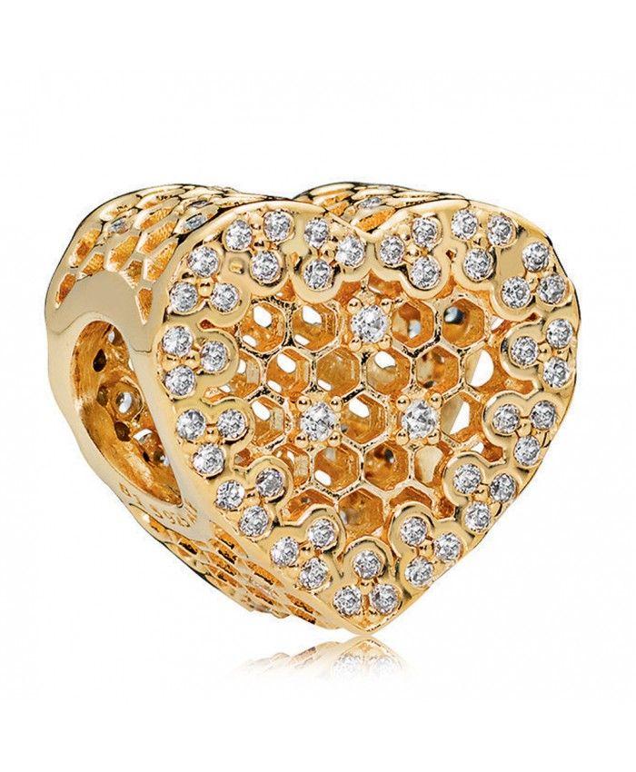 26647a911 Pandora Shine Honeycomb Lace Charm   pandora charms   Pandora ...