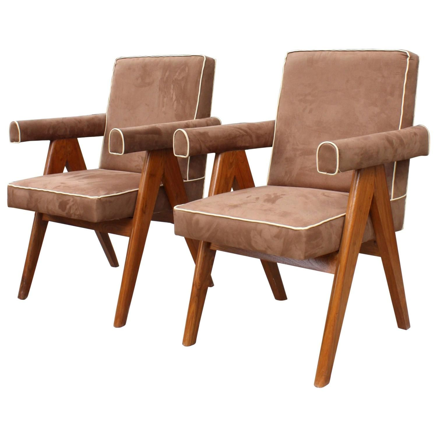 Pierre Jeanneret 1896 1967 Ensemble De Two Senate Committee Chairs Chair