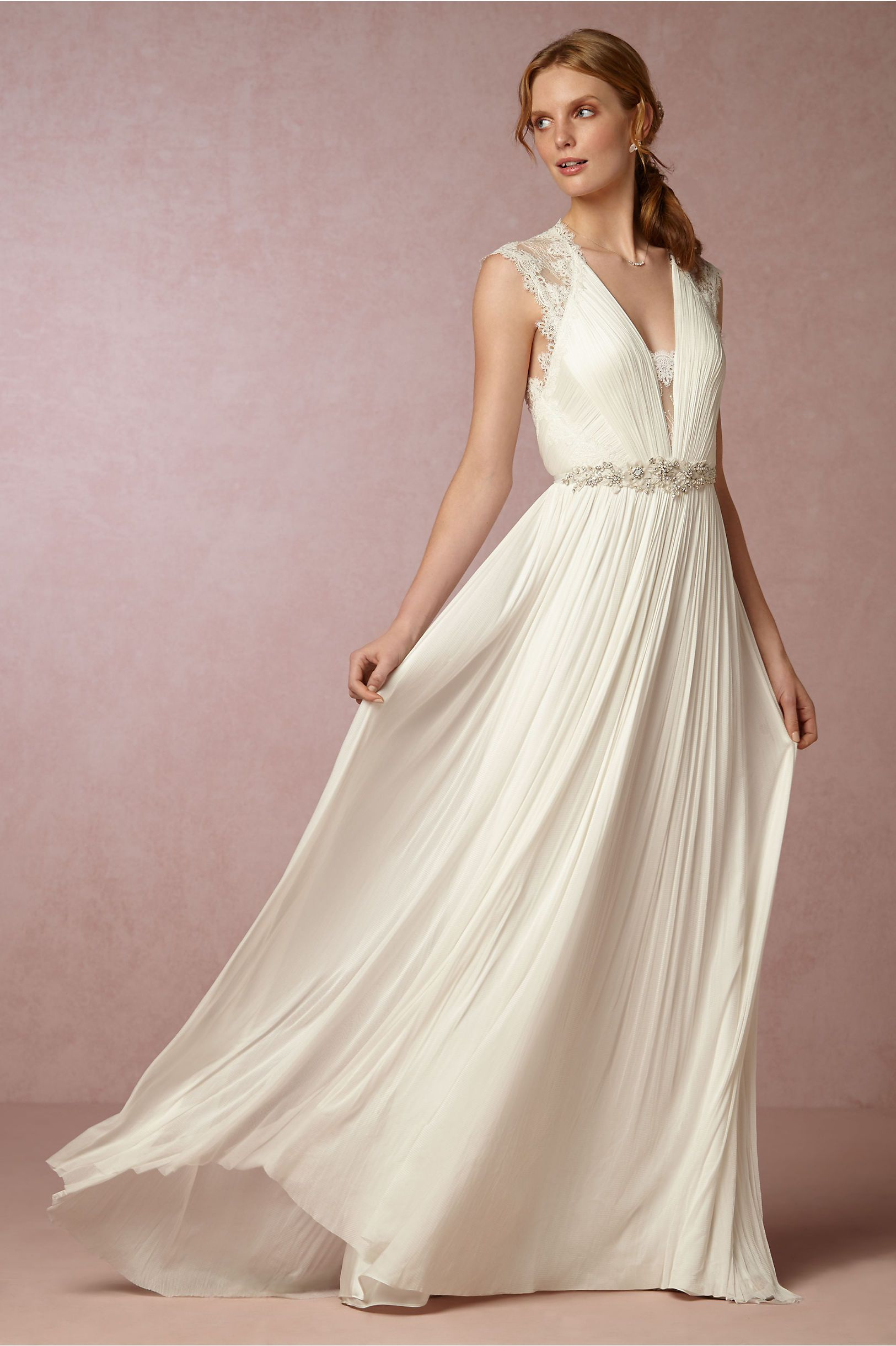 a whimsical romance fantasia gown from bhldn the romantic