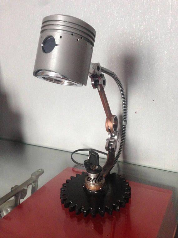 de Motorbike BADASSMuebles Piston Lamp Industrial Parts 5RL4Aj