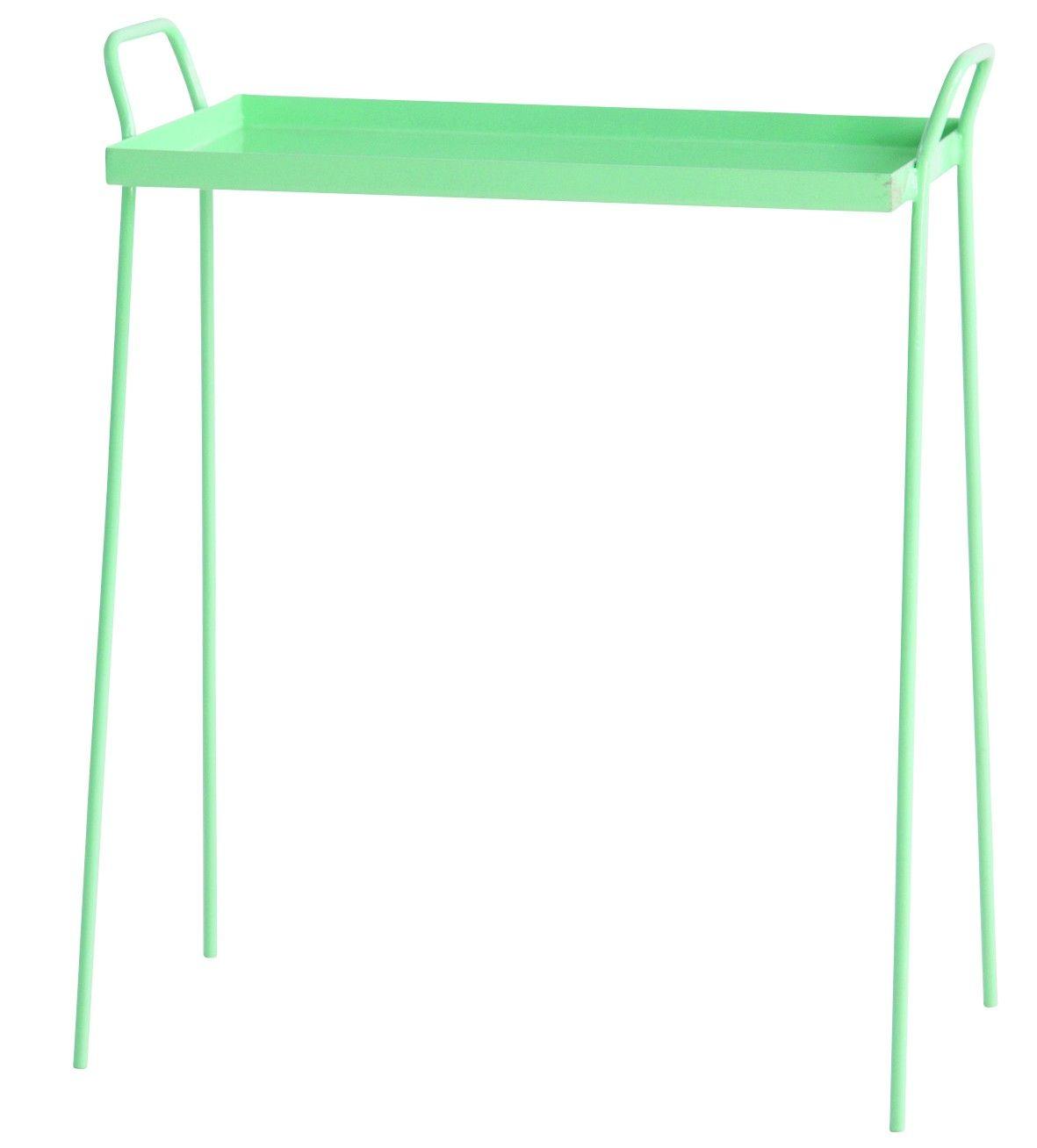 Bak Sidebord - Smart håndfremstillet bakkebord i trendy pastel grøn. Dette fine bakkebord kan tjene mange forskellige funktioner og er et lille og praktisk møbel som kan fuldende et rum. Anvend bordet som sidebord, lampebord, til at stille kaffekopperne på når du sidder i sofaen m.m.