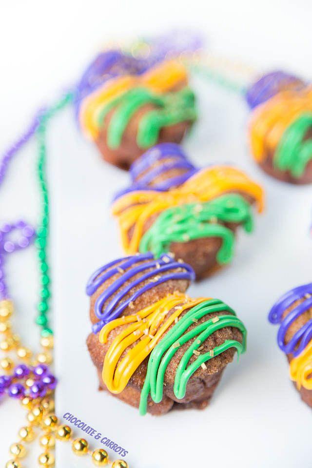 Mardi Gras Monkey Bread Muffins | chocolateandcarrots.com