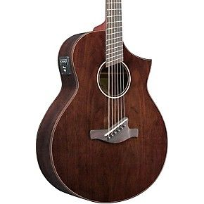 Ibanez Aew40ffcdnt Walnut Multi Scale Acousitc Electric Guitar Guitar Electric Guitar Acoustic Electric Guitar