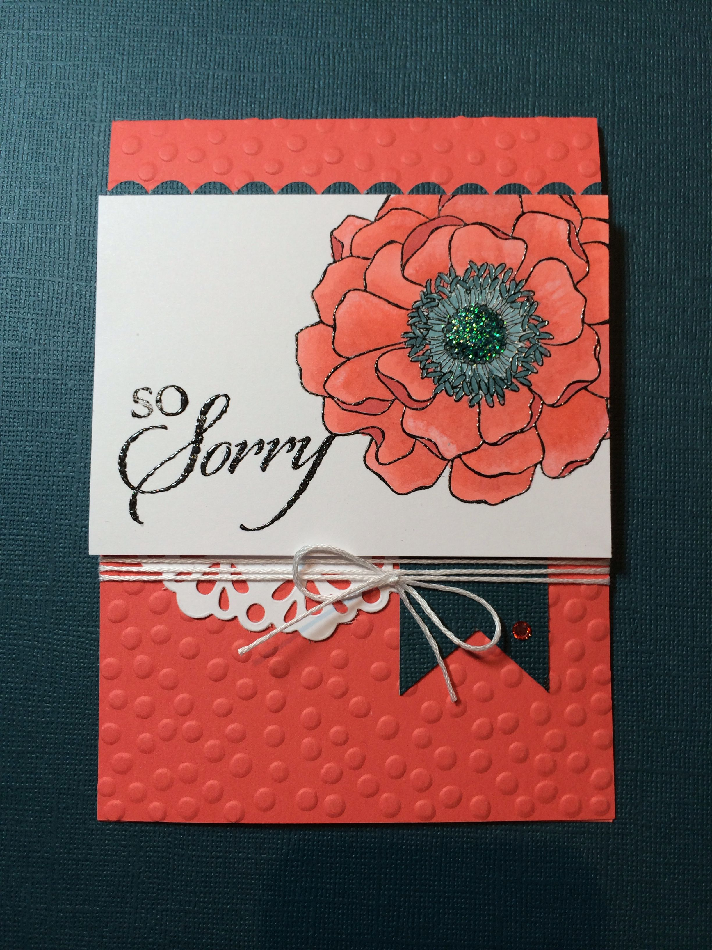 Stampin up card using blended bloom stamp and calypso coral blend abilities from the soon to be released 2014/2015 catalogue.