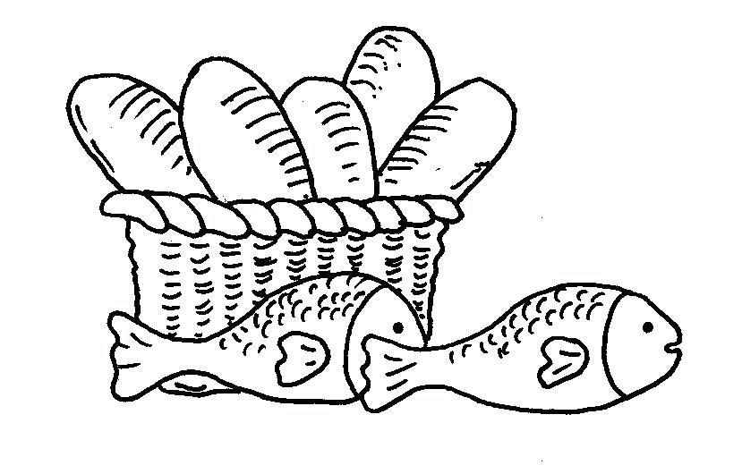 Disegni Da Colorare Pane La Moltiplicazione Dei Pani E Dei Pesci Da