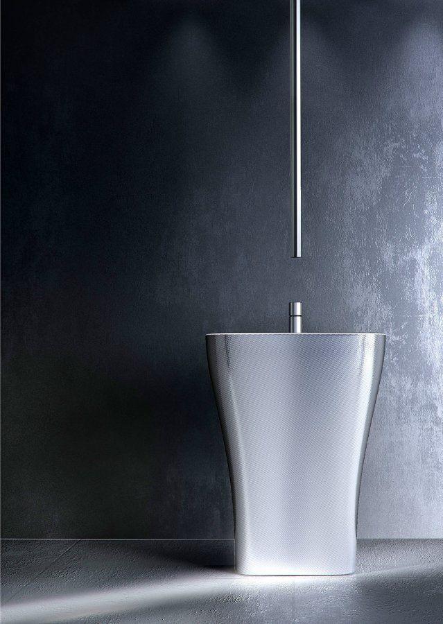 Chrome-plated ceiling mounted single handle washbasin mixer NOMOS GO by FIMA Carlo Frattini | #design Castiglia Associati