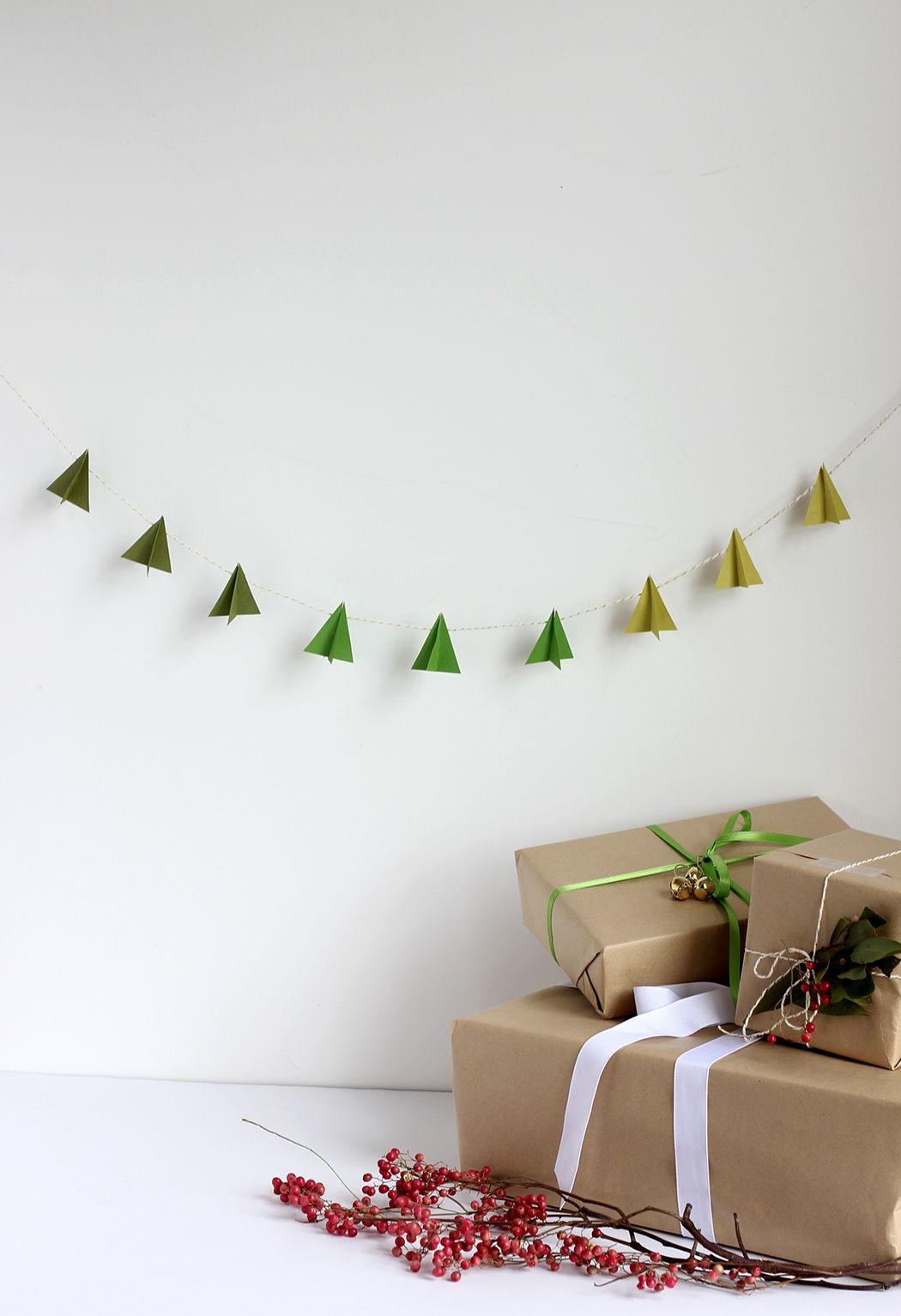 Diy Paper Tree Garland Diy Christmas Tree Garland Christmas Decor Diy Diy Christmas Garland