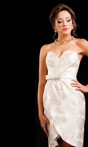 corset sheath/column short/mini bow zipper up homecoming