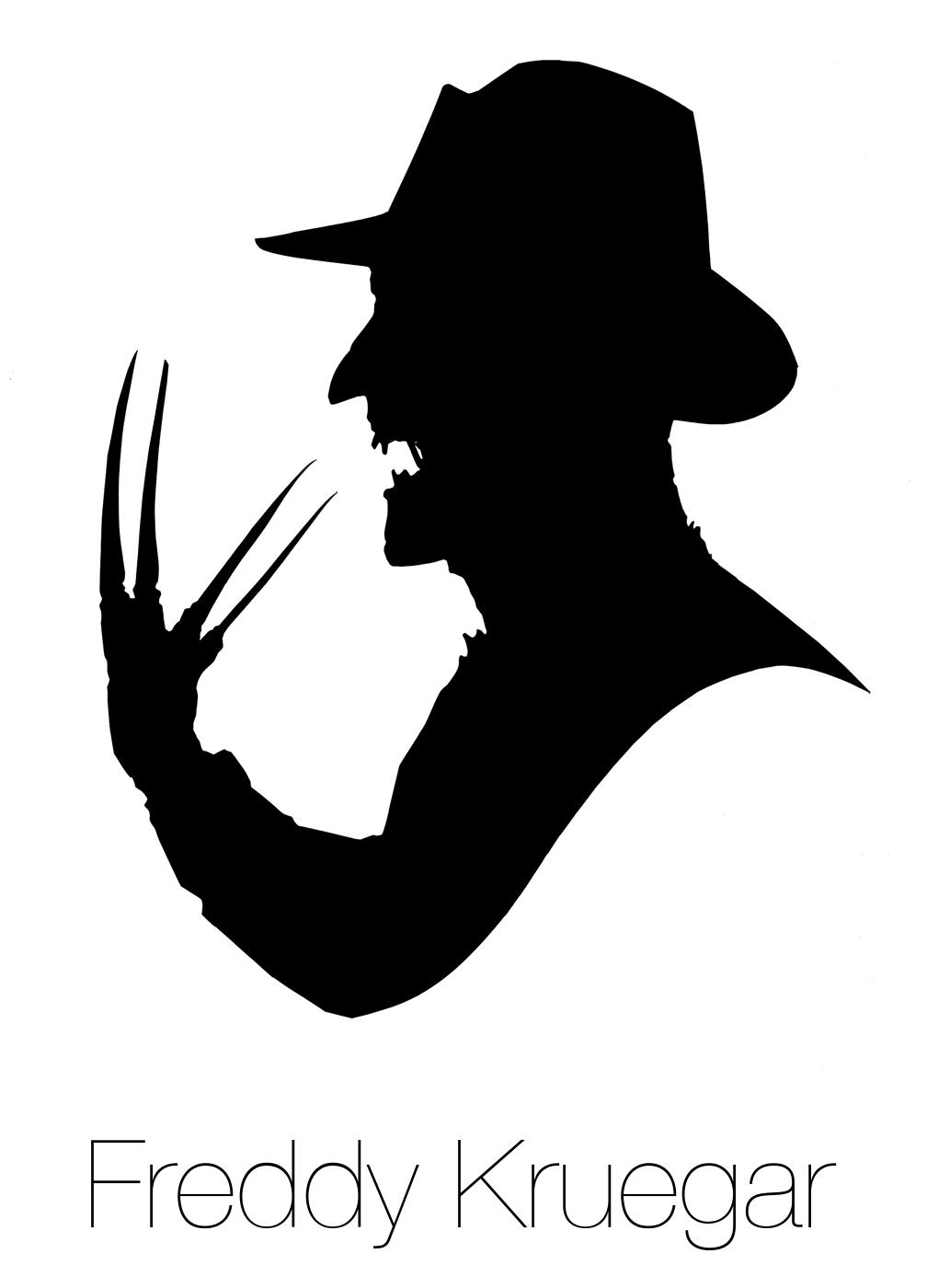 Freddy krueger silhouette happy horror days pinterest for Pumpkin carving silhouettes