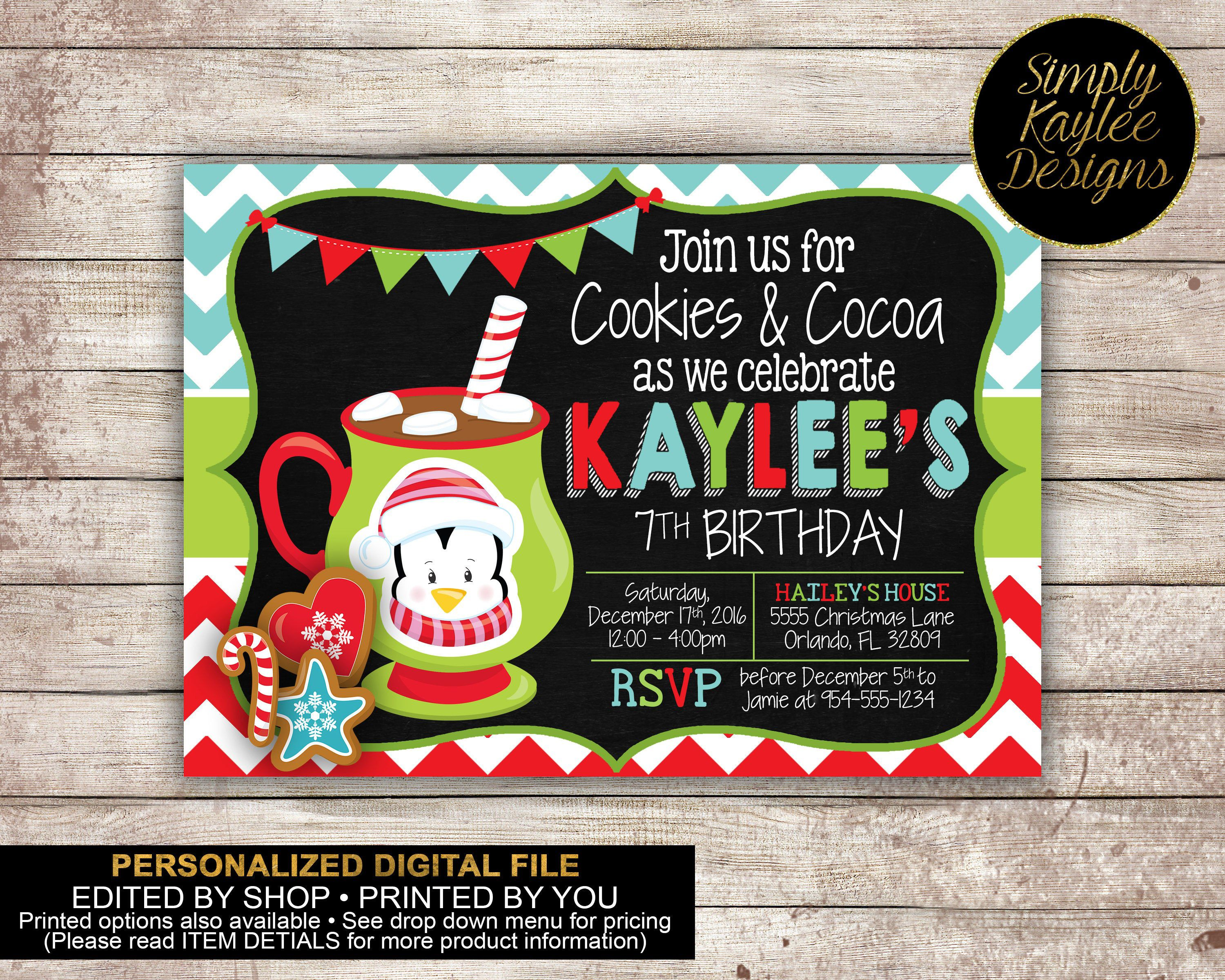 Pin by Simply Kaylee Designs on Cookies and Cocoa Birthday