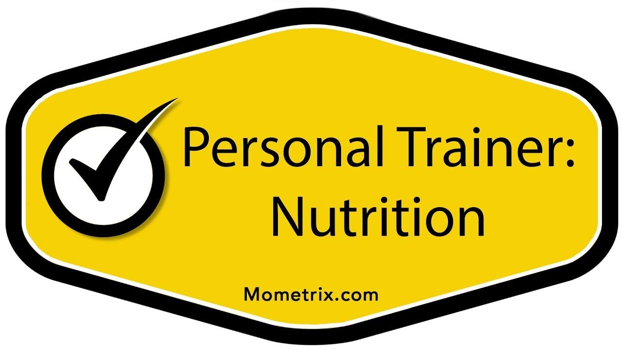 Personal Trainer Certification Nutrition American Council On