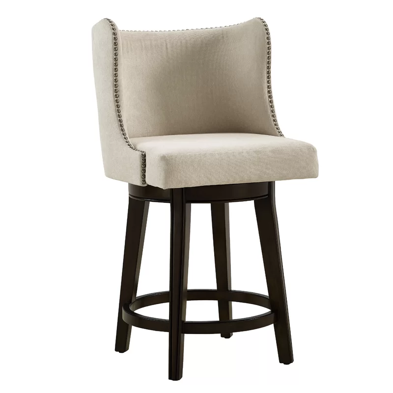 Karam Bar Counter Swivel Stool In 2020 Bar Stools Upholstered