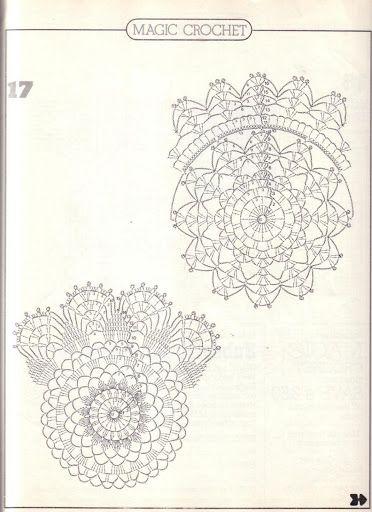 Crochet Knitting Handicraft: doilies round