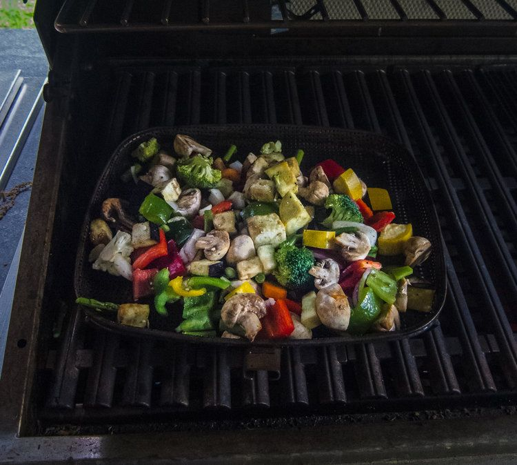 Recipe: Simple Summer Side Dish - Chopped Grilled Veggies #athletefood